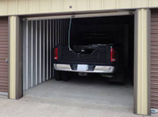 Indoor parking space for a truck