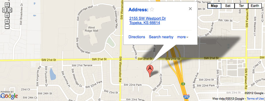 ... Google maps location for AAA Self storage in Topeka ...  sc 1 th 138 & Self Storage Units in Topeka KS | AAA Storage Topeka